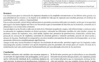 Artículo del Dr. Julián López Jiménez en la Revista Medicina Oral Patología Oral y Cirugía Bucal